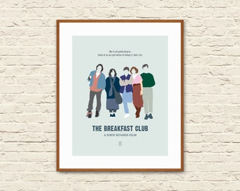THE BREAKFAST CLUB - Minimalist Poster, John Hughes Movies, Molly Ringwald, Alternative Poster, Ferris Bueller, Sixteen Candles