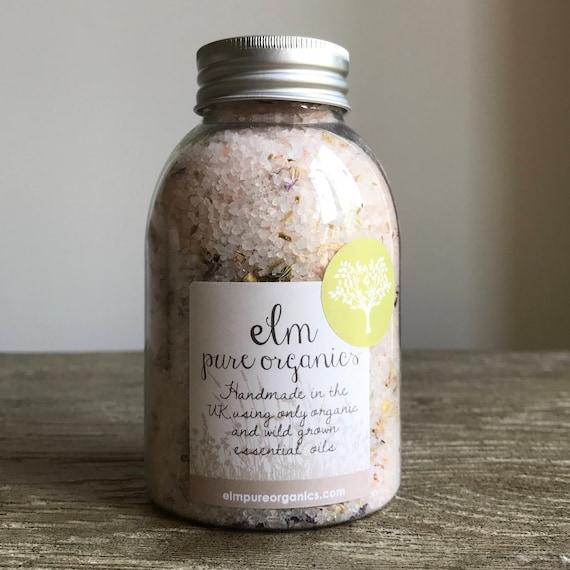 Inika. All Organic Pink Himalayan Bath Salts. Only Organic Essential Oils. Chamomile, Lavender, Rosemary, Lemongrass. Eco friendly