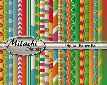 60% OFF SALE Fiesta Digital Paper Pack - Commercial Use - Instant Download - M7