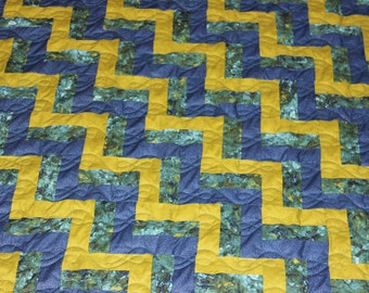 KING QUILT - Custom Made Quilt - King Size Quilt - Rail Fence Quilt - Supply Your Own Fabrics - 50% DEPOSIT