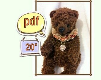 Pattern Teddy Bears Pryanichek 20 inches - PDF, digital pattern, pattern bears, Teddy pattern, pattern with a soft toy