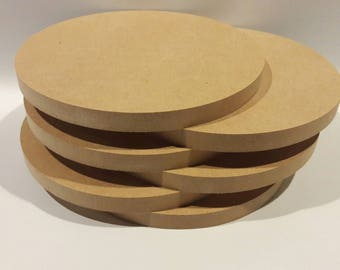 "MDF Circles, 6 MDF Circles, 10"" in Diameter, 3/4"" thick"