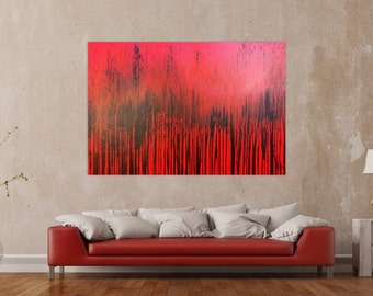 Original abstract artwork on canvas ready to hang 110x170cm #354