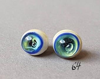 Fish eyes, glass eyes, 9 mm