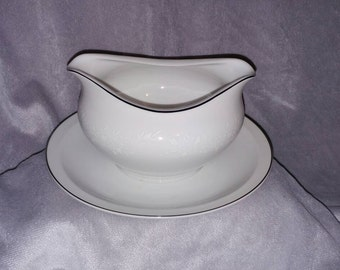 Modern China & Table Institute Gravy Boat in the 5717 Enchantment pattern