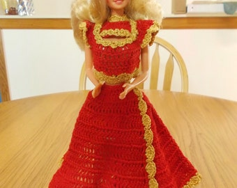 Crochet Fashion Doll Barbie Outfit -BE MINE-Doll included
