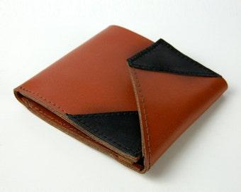 Men's Leather Wallet, brown, black, genuine leather