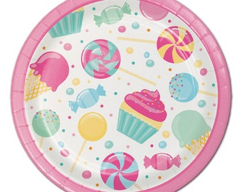 My Sweet candy Dessert plates / candy theme / candy / treats / sweet candy party / dessert plates /
