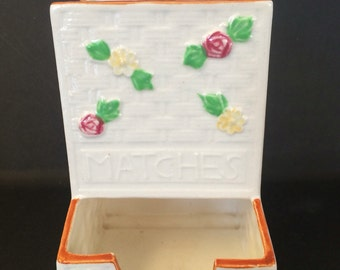 Vintage Ceramic Match Box Holder