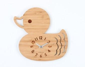 Animal Wall Clock -  Duck