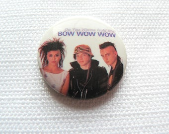 Vintage 1980s Bow Wow Wow - Do You Wanna Hold Me? (1983) Single Promotional Pin / Button / Badge