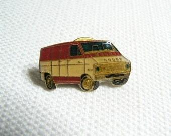 Vintage Late 70s Dodge Custom Van Enamel Pin / Button / Badge