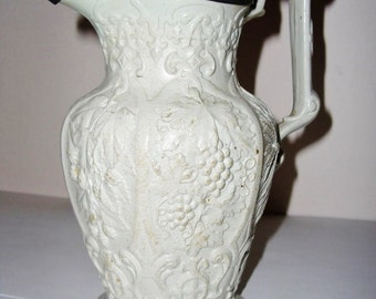 Ridgway Relief Molded Jug Hops Barley English 1848 Antique