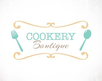 Premade Logo Design • Chef Cook Spoon and Fork
