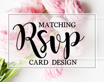 Coordinating ADD-ON - RSVP Card Design