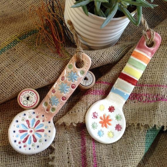 Handmade Ceramic Hanging Spoons