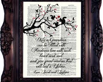 Grandmother Gift Grandma MOTHER'S DAY Gift Grandma Poem Grandma Quote Personalized Grandmother Gift Grandma Verse Grandma Birthday Gift C847