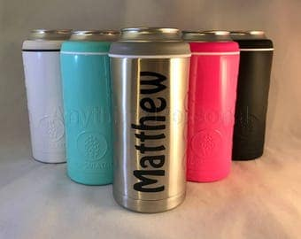 Personalized Hopsulator, Personalized Stainless Steel Beer Holder, Personalized Gift, Canned Drink Holder, Personalized Stainless Steel