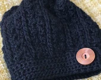 Rustic Slouch Crochet Beanie