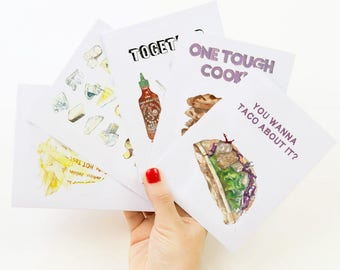 Set of 5 assorted greeting cards