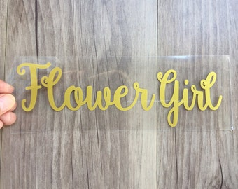 Flower Girl  iron on , DIY  Bachelorette party iron on transfers for T shirt, Tank top