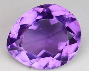 HUGE! 5.29cts Purple Pear Amethyst Natural Loose Gemstone