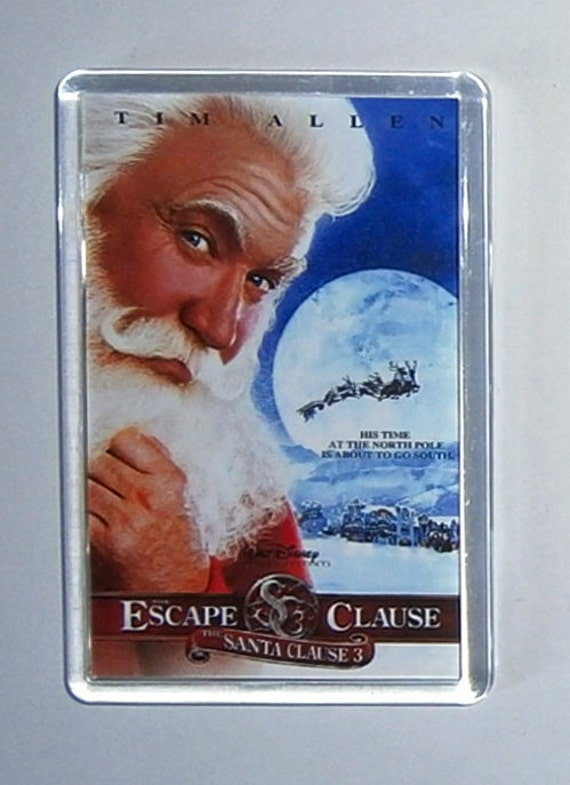 Christmas Movies The Santa Clause 1 2 & 3 fridge magnets