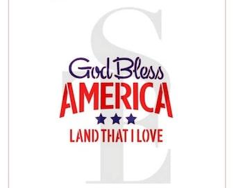 God Bless America - Land That I Love Stencil