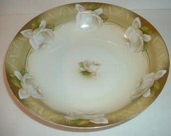 RS Germany Bowl with White Roses