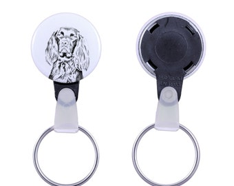 Keyring with a dog -German Longhaired Pointer
