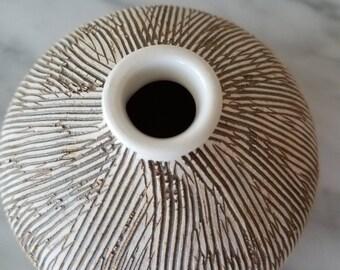 Mid century modern Kravec studio pottery vase