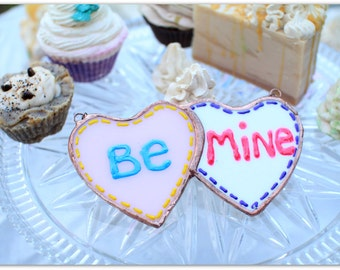 Be Mine Glass Candy Hearts, stained glass, candy hearts, stained glass sun catcher, valentines day, gifts for her, valentine decor, holiday
