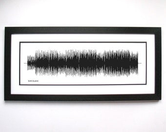 Sir Duke - Song SoundWave Art - Created From Entire Song