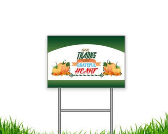 18 x 12 Inch Thanks given Reflective Yard Signs