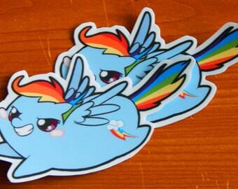 Pony Chub! Rainbow Dash Sticker
