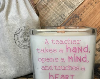 Soy Candle / Teacher Candle / Teacher Gift / Back To School / Gifts For Teachers / Teacher Appreciation / Custom Request