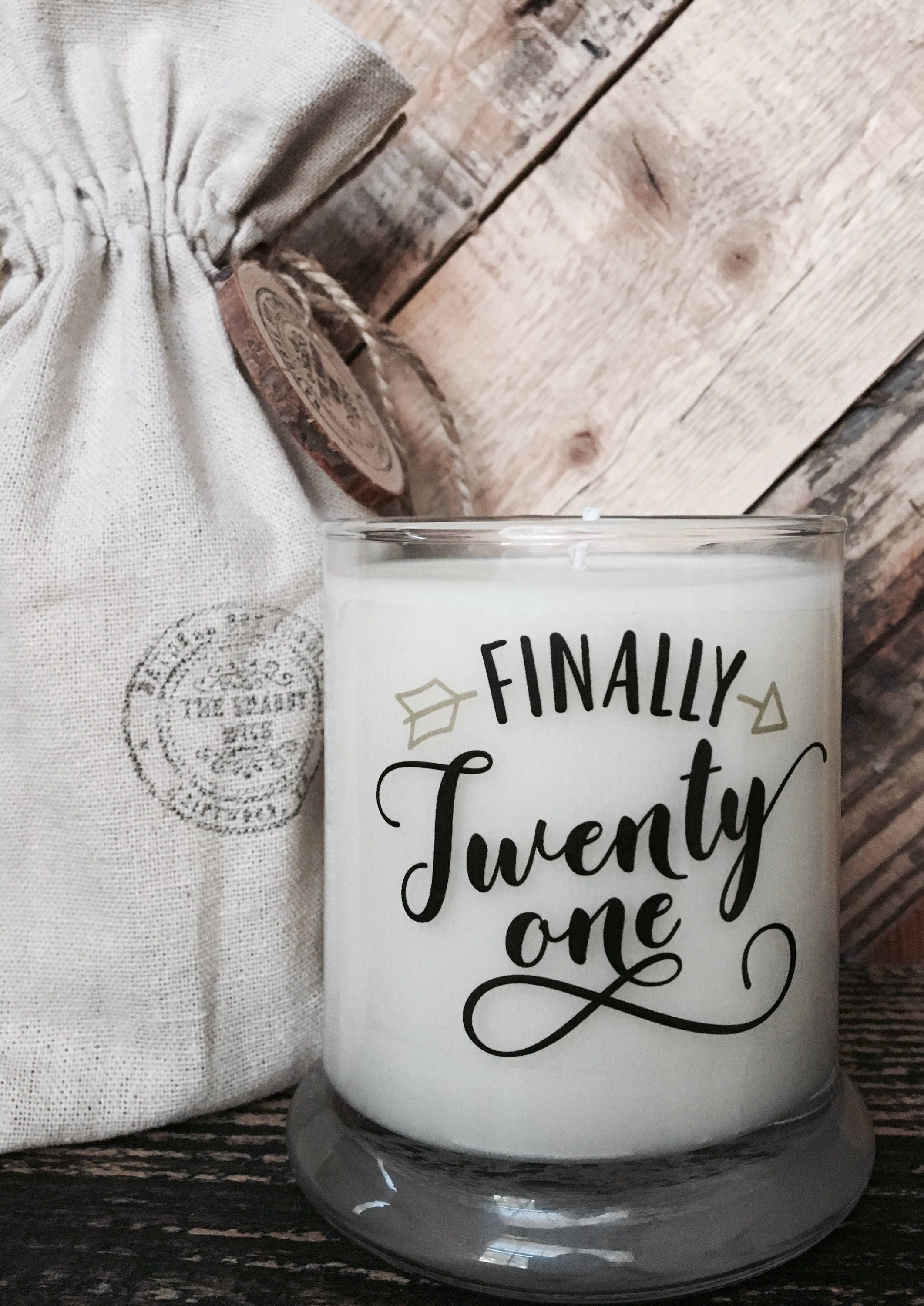 Quotes 21St Birthday Soy Candle  21St Birthday Gift  21St Birthday Candle  Birthday