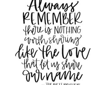AVETT BROTHERS - Always Remember