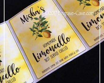 Limoncello label, Limoncello, Label