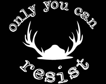 Only You Can Resist Park Svc Decal - Vinyl Decal - Label - Vinyl Resist Decal - Outdoor Vinyl Decal - Decal -Monogram Decal - Decal - Label