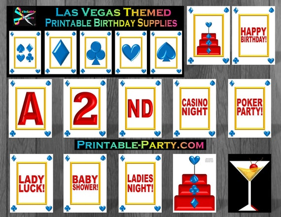Las Vegas Theme Birthday Party Supplies