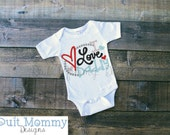 I Love Daddy | Embroidered | Onesie Shirt or Dress | T Shirt | Valentine's Day | Baby | Toddler