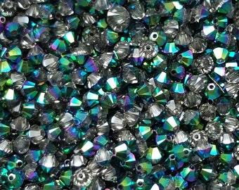 SCARABAEUS - Swarovski 4mm Bicone Crystal Beads - Select 10, 20, 50 or 100