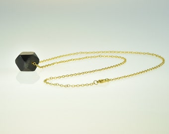 SALE! Chain Gold Plated with Black Bead Jewelry Necklace