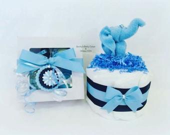 Onesie Cupcake, Baby Boy Gift, Baby Shower Gift, Pregnancy Gift, Diaper Cake, Cupcake Onesie, Washcloth Animals, Unique Baby Gift