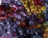 Teeswater Locks - Curls - Hand Dyed Locks - Spinning - Doll Hair - Lockspinning - Felting - Wool Locks - Troll Hair - Blythe - Locks - Spin