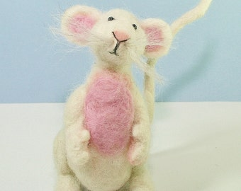 Mouse Felting Kit - needle felting kit - needle felting craft kit - felting kit