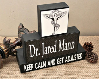 Chiropractors Gift, Keep Calm And Get Adjusted, Christmas Gift, Chiropractor Doctor Office Desk Accessories, Chiropractor Graduation Gift
