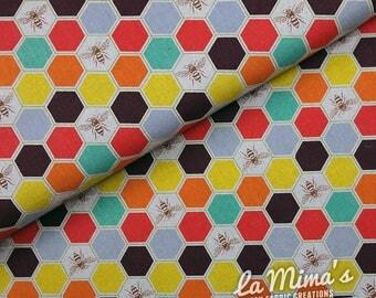 Echino Fabrics Etsuko Furuya - Bee Happy - per 1/2 meter