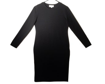 Vintage Philosophy Long Sleeved Black Tunic Dress
